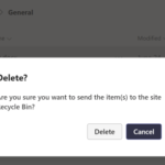 How to restore a file deleted from a Microsoft Teams channel